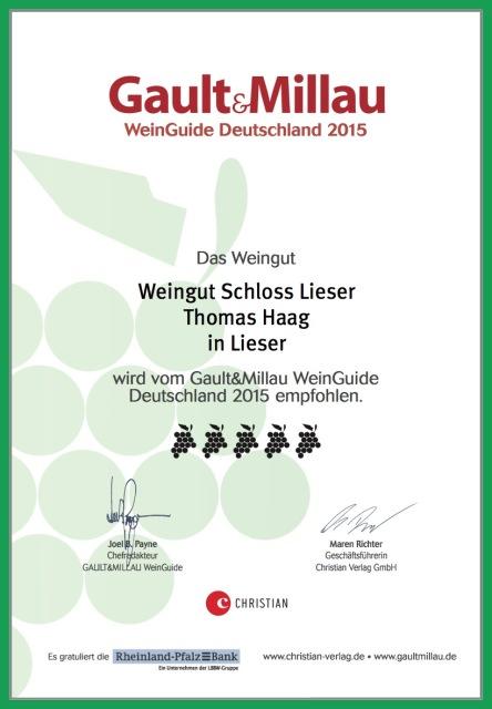 Gault&Millau Weinguide Deutschland Auszeichnung