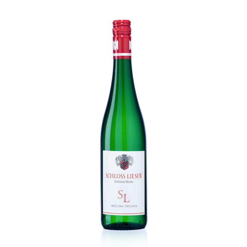 Weingut Schloss Lieser Riesling trocken Flaschenbild
